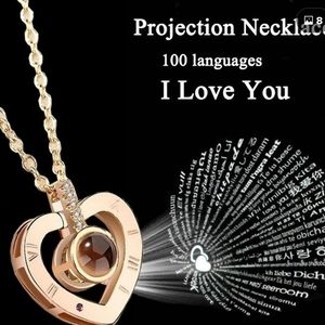 Jewelry - New Rose Gold Projection I love you Necklace